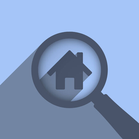Search house concept, vector eps10 illustration