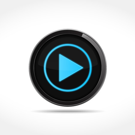 users video: Round play button, vector eps10 illustration