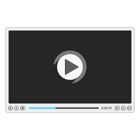 Flat video player design template, vector eps10 illustration Vector