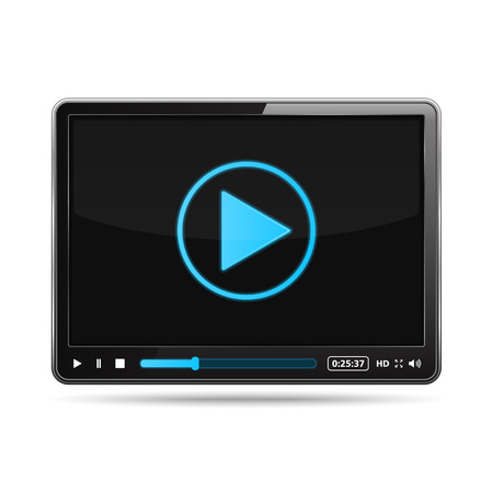 hd video: Black video player design template