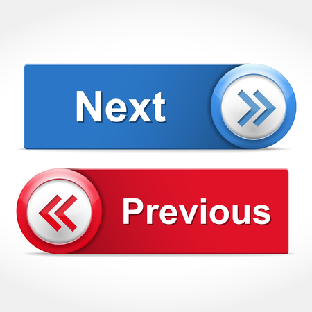 Next and previous buttons Vector Illustration