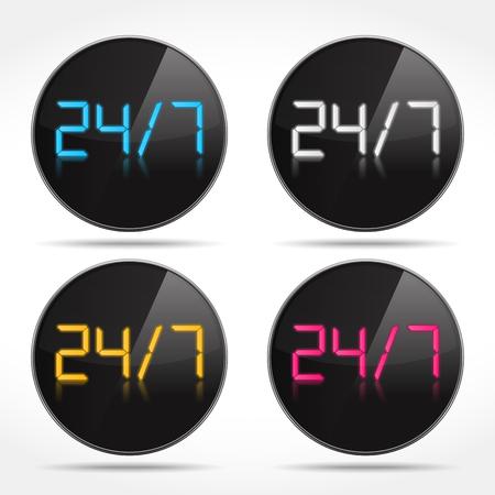 24x7: 24 7 Digital icons