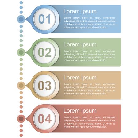 Timeline design template Illustration