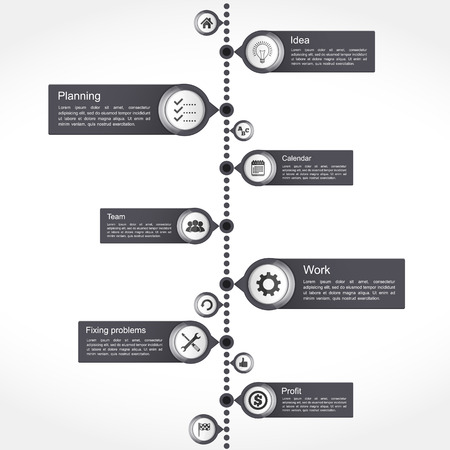 data flow: Timeline design template Illustration