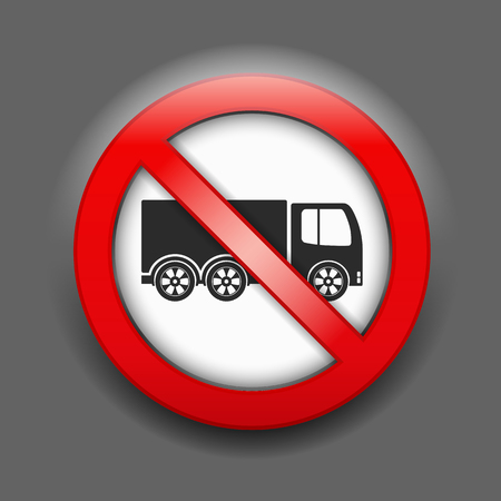 parking is prohibited: No trucks sign Illustration