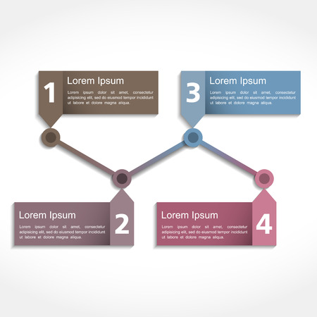 Timeline design template with four elements Vector