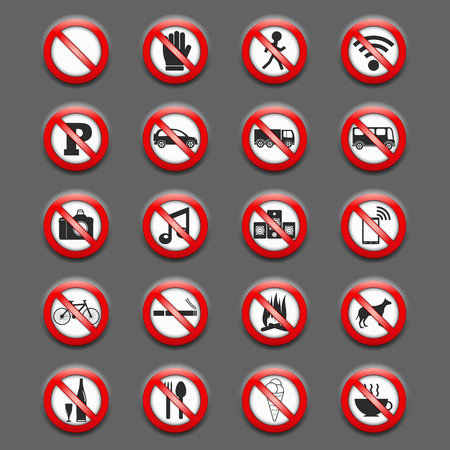 forbidden pictogram: Prohibition Signs