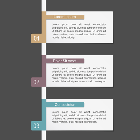information design: Design template with three elements