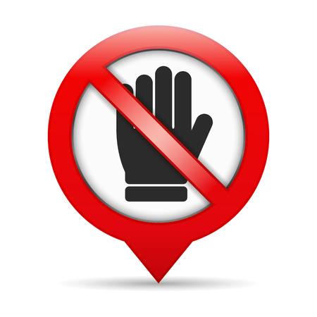 stop hand: No entry sign