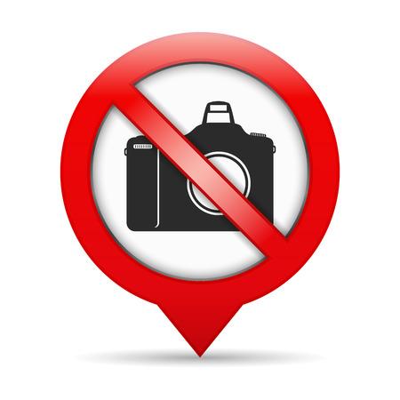 pin entry: No photo sign