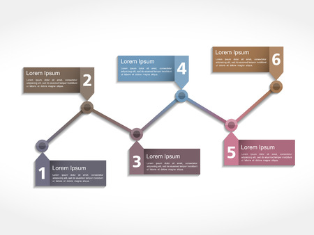 flow chart: Abstract timeline design template Illustration