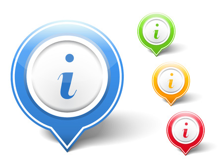 point i: Information icons Illustration