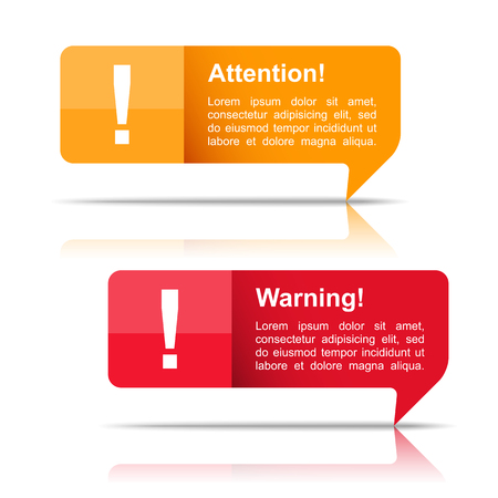 Attention and warning banners Stock Vector - 25666391