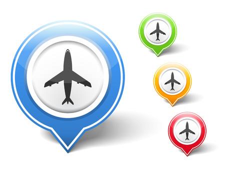 airplane icon: Airplane icon Illustration