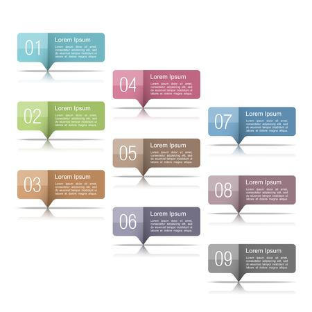 Conjunto de elementos de diseño con números
