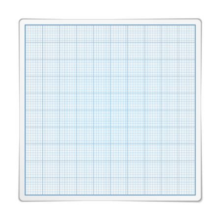 graphing: Papel gragraph cuadrado sobre fondo blanco Vectores