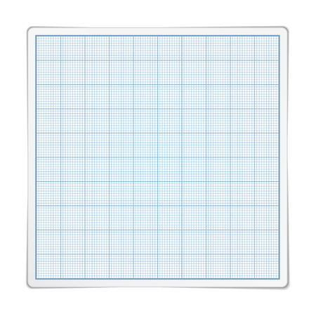 Square gragraph paper on white background Stock Vector - 26034487