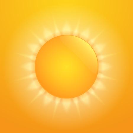 Bright orange hot sun Illustration