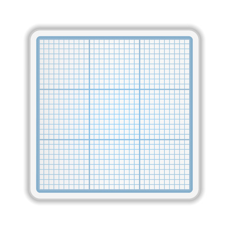 Graph paper on white background Vector
