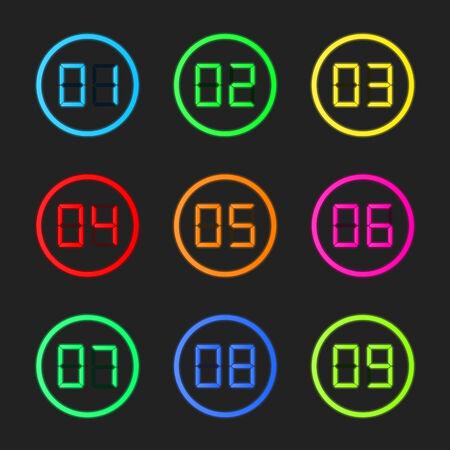 digital timer: Digital numbers set