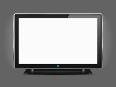tv scherm: LCD TV with blank white screen