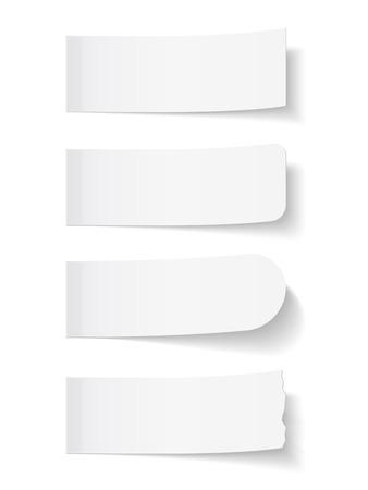 Lege witte memoblokjes Vector Illustratie