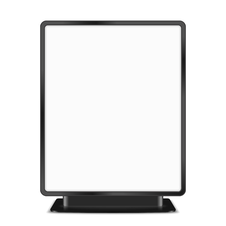 Black billboard on white background Vector
