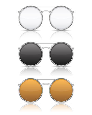 Glasses with reflection on white background Vector