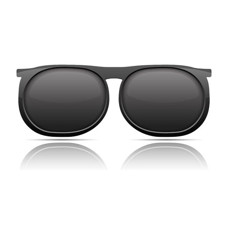 sunglasses reflection: Sunglasses with reflection on white background