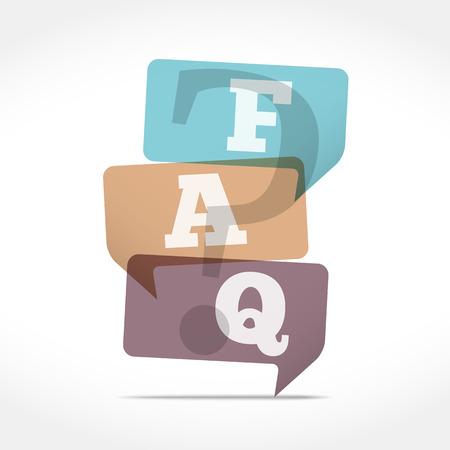 faq: Speech Bubbles with FAQ symbol