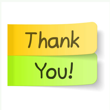 Thank you sticky papers Stock Vector - 27333862