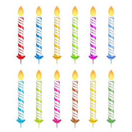 birthday candle: Birthday candles on white background