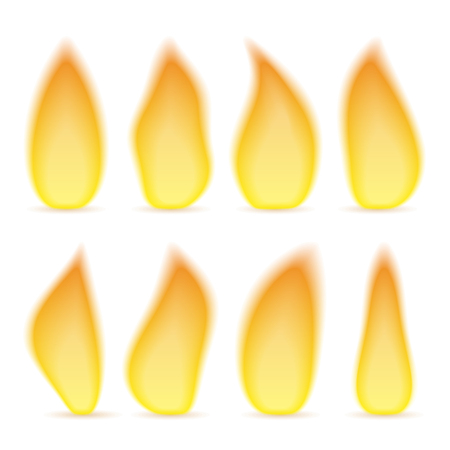 gas flame: Transparent flame of different shapes Illustration