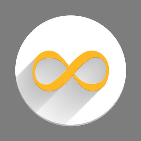 Infinity symbol icon, flat design Vector
