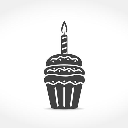 velas de cumpleaños: Icono Cumpleaños de la magdalena