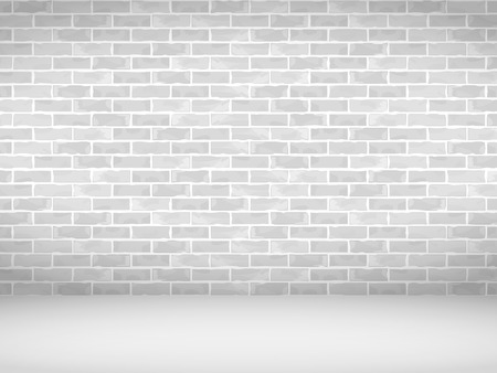 Empty old brick wall background, urban background Vector