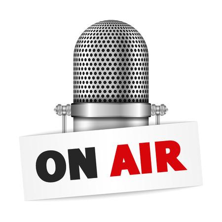 microfono radio: Micr�fono en el aire