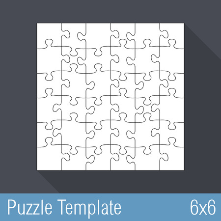 36 6: Jigsaw puzzle template 36 Pieces, 6x6