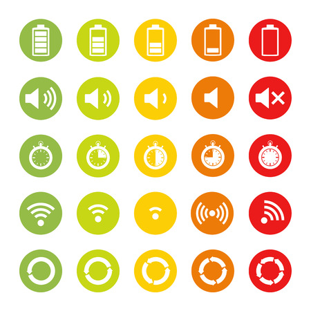 circular arrow: Icons of different indicators Illustration