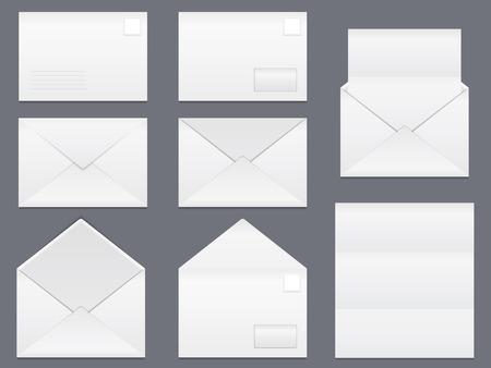envelope design: Envelopes and blank white paper
