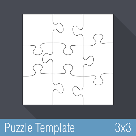 jigsaw puzzle template 36 pieces 6x6 royalty free cliparts