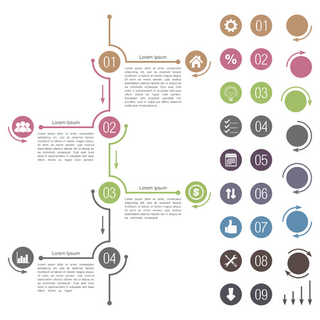Timeline design elements Illustration