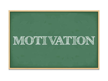 The word motivation on blackboard Vector