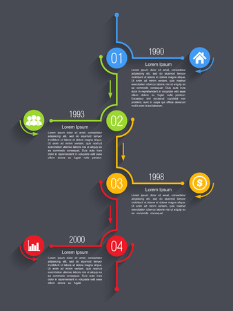 Colorful timeline infographics design template Vector