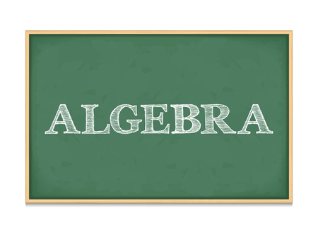 algebra: The word algebra on blackboard Illustration
