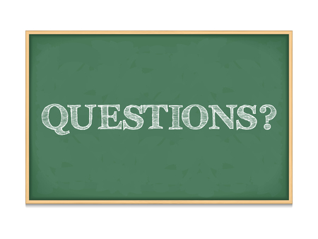 The word questions on blackboard Vector