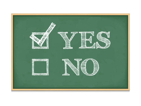 check box: Yes and no with checkboxes on blackboard