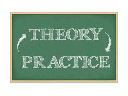 Theory - Practice concept Vector