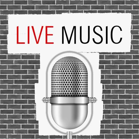 live on air: Live music banner Illustration