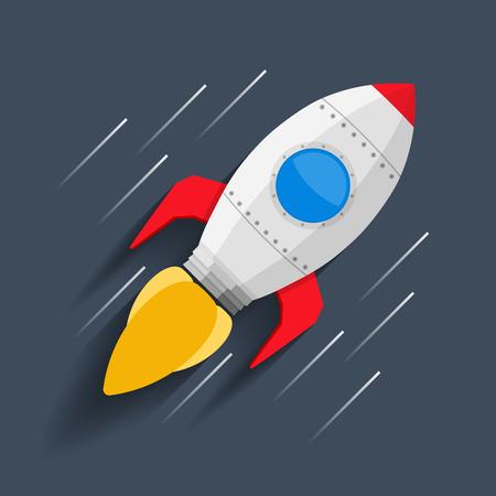 rocketship: Rocket flynig in space